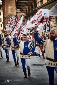 Bandierai degli Uffizi Firenze - i blu